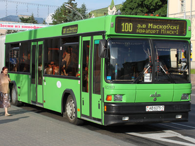 Bus 100 in Minsk