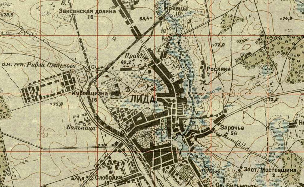 An old map of Lida, 1900s