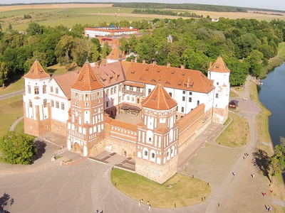 Mir Castle air view, 2015